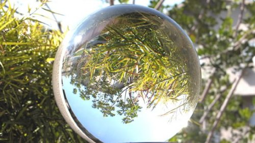 Tripact Optically Clear Crystal Ball 200mm (7.87 in.) Including Wooden Stand