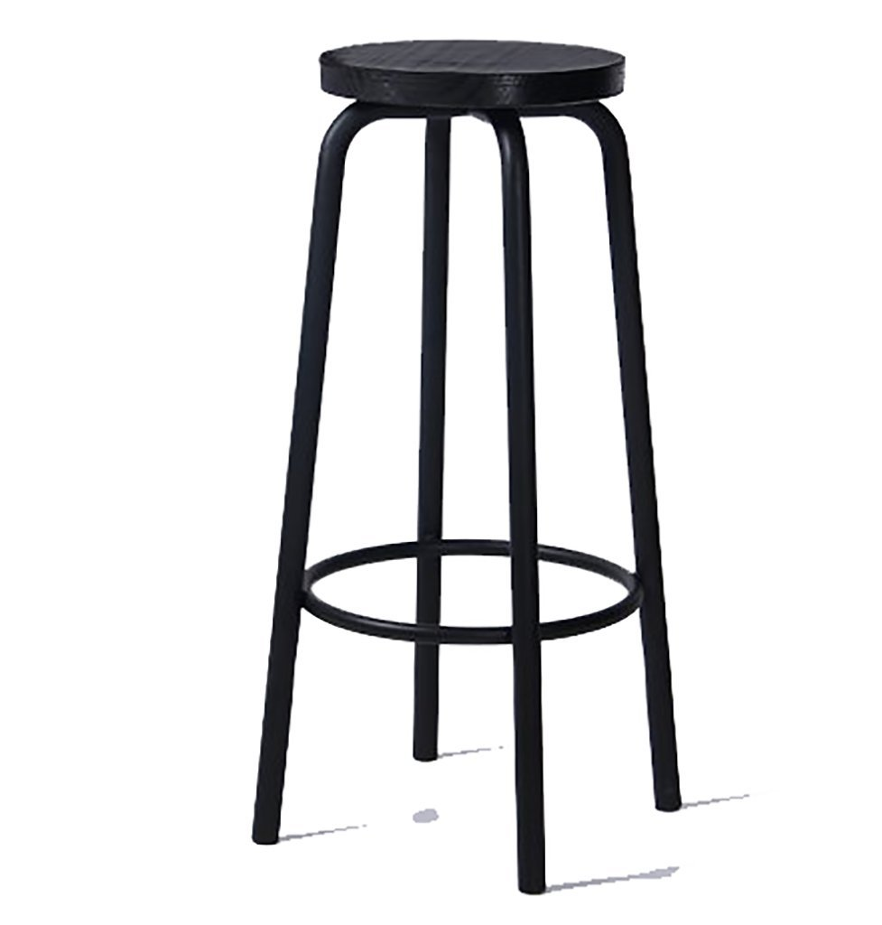 A 80cm Bar stools Bar stools Industrial Stool Breakfast Stool Bar Chairs, stools, Solid Wood, Iron, high Chairs, Leisure Tables and Chairs. Height Chair (color   A, Size   80cm)