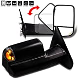 For Dodge Towing Mirrors SCITOO Black Rear View Mirrors for 2002-2008 Ram 1500 2003-2009 Ram 1500 2500 3500 with Arrow Turn Signal Side Marker Light Power Control and Heated Features