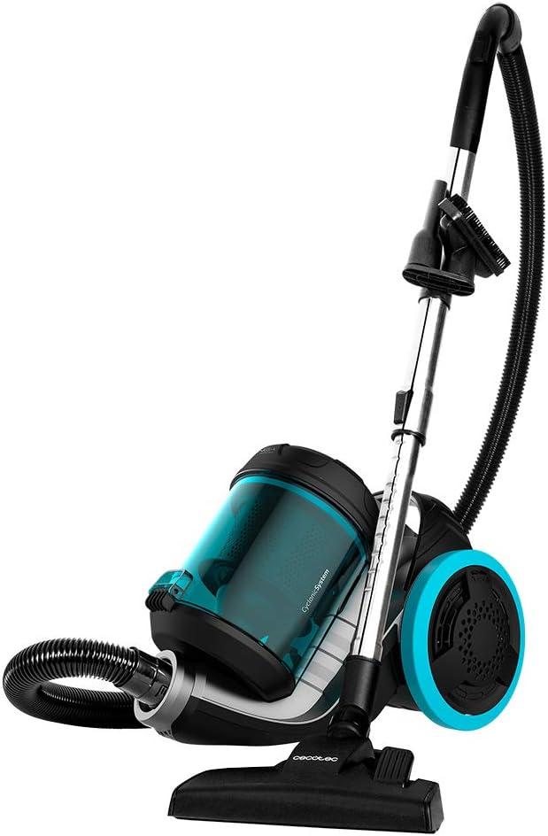 Cecotec Aspirador de Trineo Conga Popstar 4000 Ultimate Animal Pro. Potencia 800 W, Sin Bolsa, Depósito 3,5 litros, Filtrado Alta eficiencia, Tubo metálico, 5 Accesorios