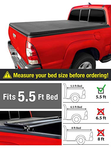 Toyota Work Truck - MaxMate Tri-Fold Truck Bed Tonneau Cover Works with 2007-2013 Toyota Tundra | Fleetside 5.5' Bed | for Models with or Without The Deckrail System