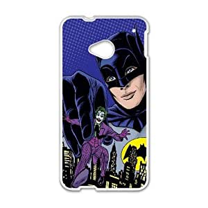 Printed Cover Protector HTC One M7 Cell Phone Case WhiteBatmanLgzsr Unique Design Cases