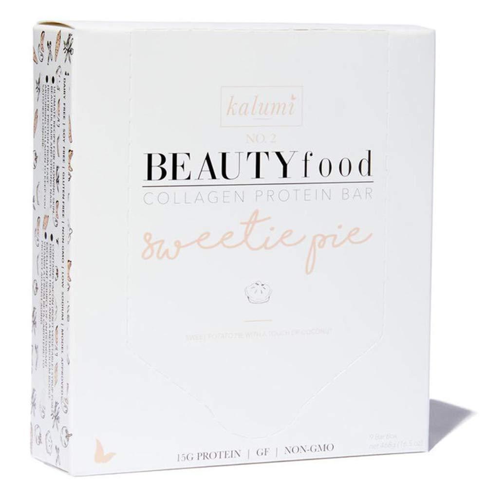 Kalumi Beauty Food Collagen Protein Bar (Sweetie Pie, 9 Bar Box)