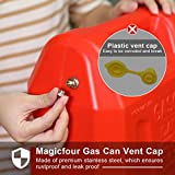 Magicfour Fuel Gas Can Vent Caps, 3 Pack Fuel Gas