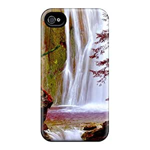 New Fall Forest Falls Tpu Skin Case Compatible With Iphone 4/4s