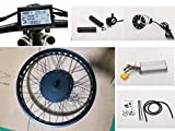 NBPower 26' x 4.0 48V 1500W Electric Bicycle Fat bike kit, 1500W Fat E-bike Conversion Kit with 1500W Hub Motor,Multifunction LCD Display, thumb trottle and 35A controller.