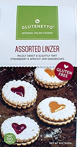 Gluten Free Cookies Glutenetto Variety of 3: Tuscan Ricciarelli Wedding, Traditional and Chocolate, and Asst Strawberry and Apricot Linzer Plus a Bonus Free GF No-Bake Cookie Recipe from Z (3+ Items) by Glutenetto and Zee (Image #3)