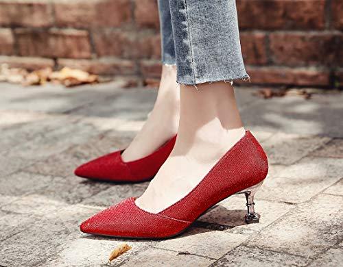 5 Compensées 36 Minotta Sandales Rouge Red Femme TxvqzvY