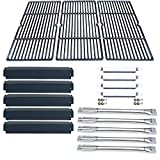 Direct store Parts Kit DG184 Replacement Charbroil Commercial 463268806 Gas Grill Repair Kit (SS Burner + SS carry-over tubes + Porcelain Steel Heat Plate + Porcelain Cast Iron Cooking Grid)