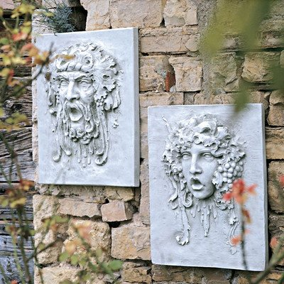 Design Toscano Opimus and Vappa Wall Sculptures - Large Scale Set Includes