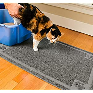 CleanHouse Premium Durable Cat Litter Mat, (36x24) XL Size, Non Slip | 100% Phthalate Free Cat Mat, Stops Kitty Litter Tracking and Scatter From Cat Litter Box | Extra Large 104
