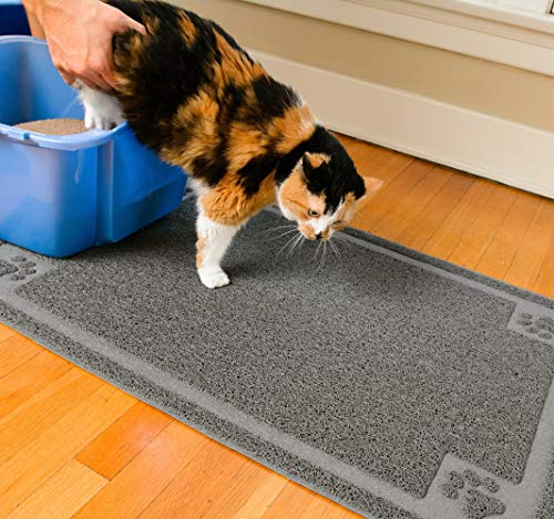 CleanHouse Premium Durable Cat Litter Mat, (36x24) XL Size, Non Slip | 100% Phthalate Free Cat Mat, Stops Kitty Litter Tracking and Scatter From Cat Litter Box | Extra Large