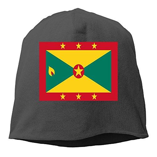 Jie Shikang Flag of Grenada Men & Women Unisex Soft Hat Skull Cap Beanie Hat Knit Hat