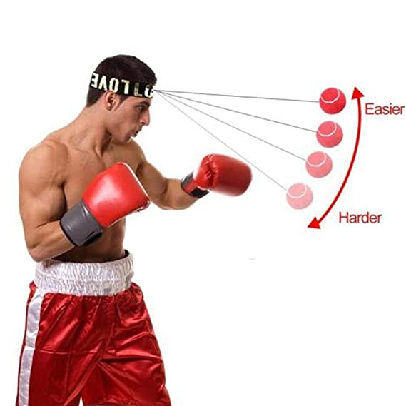 Hand Eye Coordination for Adult//Kids 2 Difficulty Level Boxing Punch Ball with Adjustable Headband Training Speed Reactions Improve LoiStu Boxing Reflex Ball