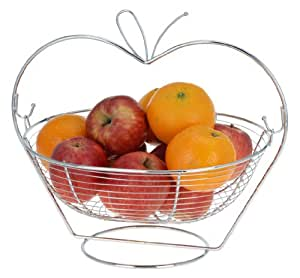 Fg-trading - Frutero–de metal–cuenco para frutas–soporte para frutas–cesta para naranjas, manzanas y frutas