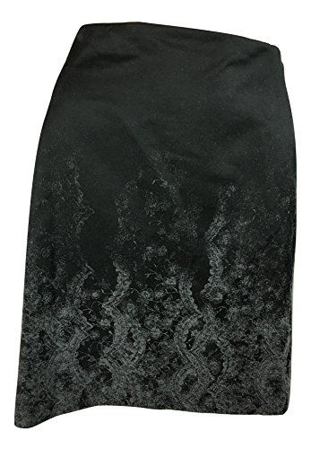 Elie Tahari Women's Elva Cotton Blend Pencil Textured Lace Print Skirt, Black/Charcoal Melange, - Elie Tahari Womens Skirt