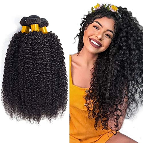 Brazilian hair Bundles Total 300g Wet And Wavy Human Hair Weave Kinky Curly Hair Sew In Extensions Unprocessed Virgin Hair Bundles Vendors wholesale lots Natural Color 20 22 24 inch