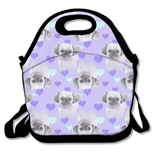 Shih Tzu Purple Lunch Bag Lunch Tote Bag for Men Women Lunch Box Insulated Lunch Container Picnic Bag ()