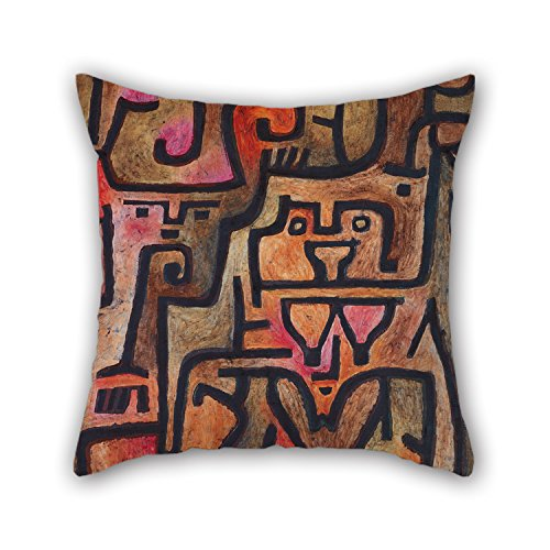 Oil Painting Paul Klee - Forest Witches Pillow Cases 20 X 20 Inches / 50 By 50 Cm Gift Or Decor For Wife,kids,shop,kids Girls,car Seat,dance Room - Each Side