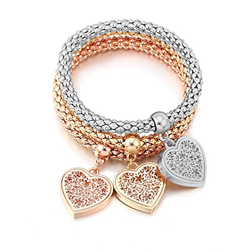 Yntmerry alloy stretch diamond love pendant bracelet, used for sale  Delivered anywhere in USA
