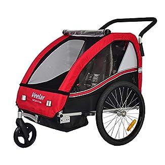 Remolque de bici para niños con kit de footing 1