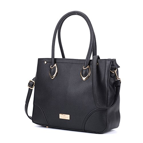 Front Fashion Women Black Bag Tote YOUNG sy2156 Nice SALLY Zip Handbag qBxCZFIaaw