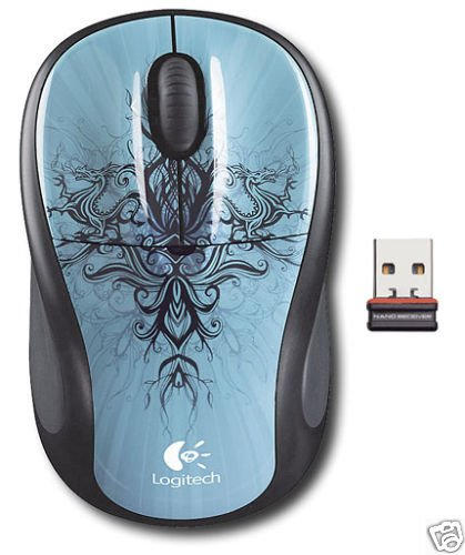 Logitech M305 Nano Wireless Notebook Mouse BLUE/BLACK DRAGON