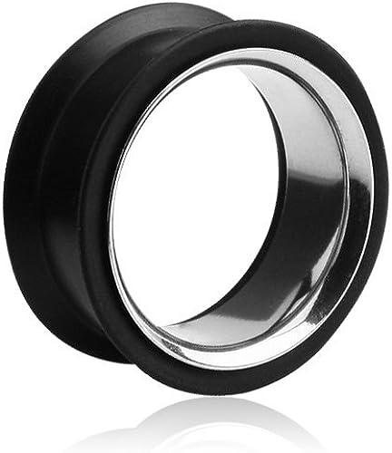 16mm BodyJewelryOnline 2 Black Acrylic Ear Plugs