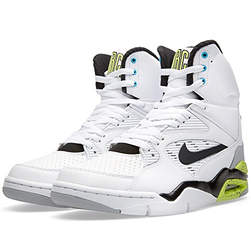 Nike Air Command Force Men Sneakers White/Wolf Grey/Volt/Black 684715-100 (Size: 9)