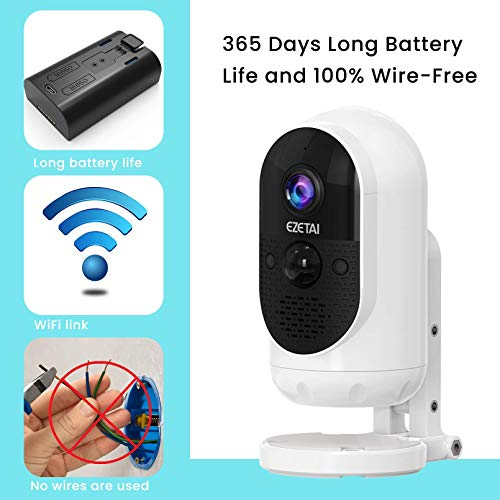 1080P Solar Powered Security Camera, WiFi Security Camera Outdoor,Wireless Battery Powered Surveillance Camera, WiFi Home Security Cam, 2 Way Audio,Night Vision,Weatherproof,32g Card,Clould Storage