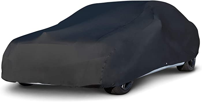 Budge BSC-4 Indoor Stretch Car Cover Black Size 4: Fits up to 19' Luxury Protection, Soft Inner Lining, Breathable, Dustproof