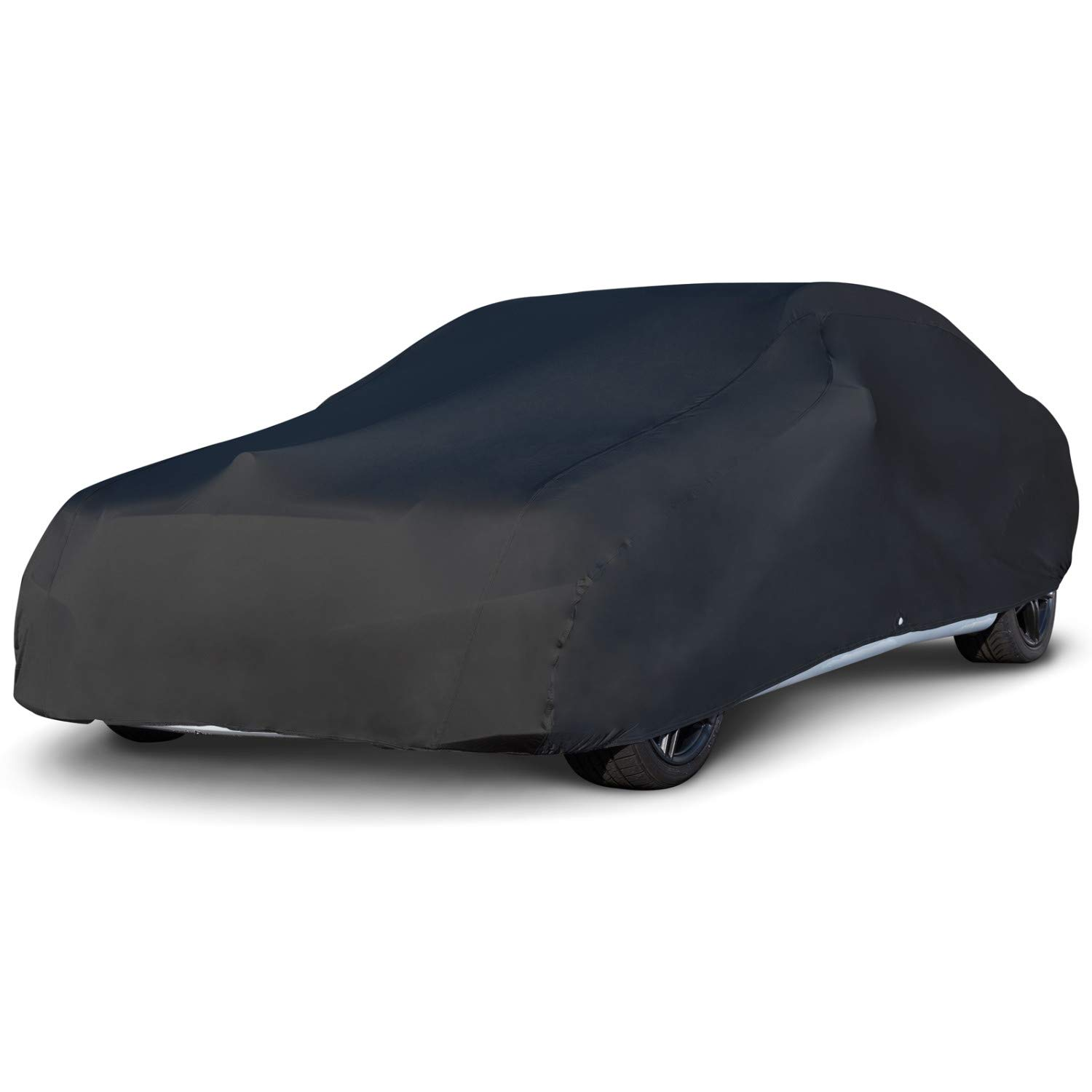 "Budge BSC-3 Black Car fits Cars up to 200"" Car Cover, Luxury Indoor Protection, Soft Inner Lining, Breathable, Dustproof"