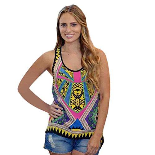 [Yoyorule Women Summer Vest Top Sleeveless Shirt Blouse Casual Tank Tops (XL/US 10, Blue)] (Paisley Silk Jersey)