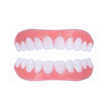 Braces Snap On Instant Perfect Smile Veneers Dentures Comfort Fit Flex  Teeth Veneers - Denture For Top and Bottom Teeth to Make White Tooth  Beautiful