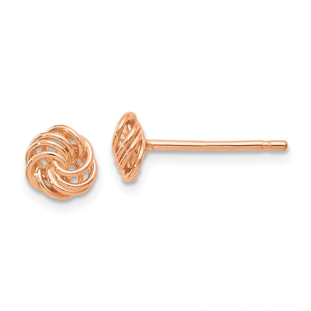 Top 10 Jewelry Gift Leslies 14k Rose Gold Polished Love Knot Post Earrings