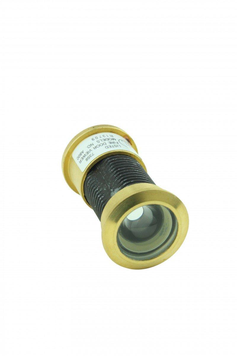 Door Peephole Viewer Brass 160 Degree 1 1//8 To 2 1//16 Adjustable Length Renovator/'s Supply