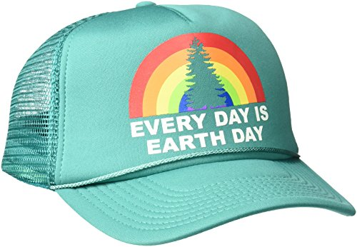 O'Neill Women's Earth Song Screen Print Trucker Hat, Deep Jungle-Oss, One Size - Oneill Mesh Hat