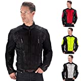 Viking Cycle Warlock Motorcycle Mesh Jacket for Men (Large, Black)
