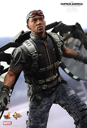 New Captain Action Costumes (Captain America The Winter Soldier Movie Masterpiece Falcon 1:6 Collectible Figure)