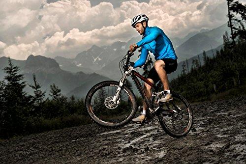 Brubeck - Pantaloncini uomo da ciclista, imbottiti, qualità professionale, colore: Nero