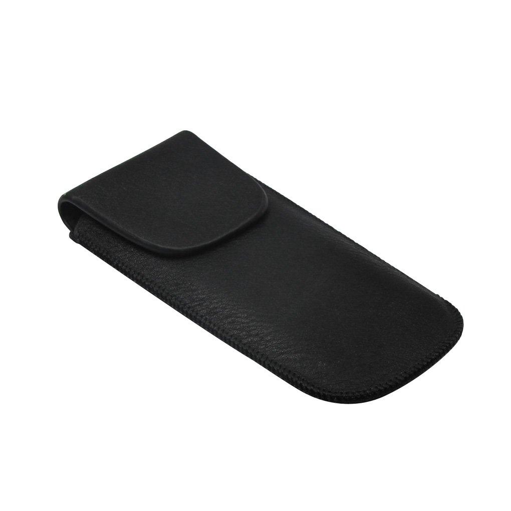 Huang 1 Pz Armonica Borsa in pelle per 10 fora l'armonica, Nero iknmusic QJ-02