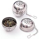 Funnytoday365 Stainless Steel Tea Infuser Strainer Tea Filter Tea Pot Accessories Tool For Kitchen Households Gadget Tea Ball