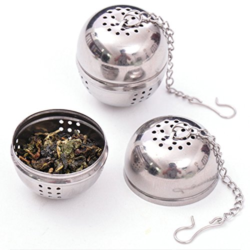 Funnytoday365 Stainless Steel Tea Infuser Strainer Tea Filter Tea Pot Accessories Tool For Kitchen Households Gadget Tea Ball by FunnyToday365 (Image #5)