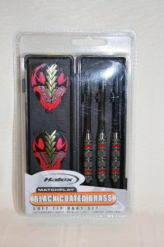 k Coated Brass Soft Tip Dart Set by Halex (Halex Soft Tip)