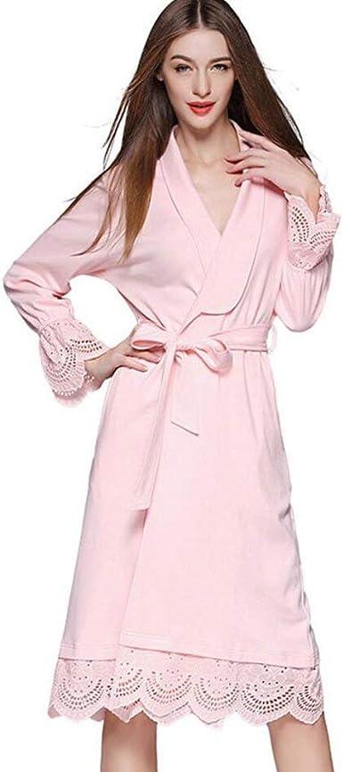 Pijama Mujer Primavera Otoño Largo Kimono Elegante Moda Manga ...