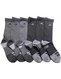 Men's Athletic Crew Socks (6-Pack) (Dark Grey/Black) Shoe Size 6-12