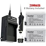 Kastar LP-E8 Battery (2-Pack) and Charger Kit for Canon LPE8, LC-E8E and Canon EOS 550D, EOS 600D, EOS 700D, EOS Rebel T2i, EOS Rebel T3i, EOS Rebel T4i, EOS Rebel T5i Cameras