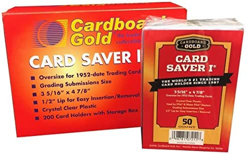 Card Saver 1 - Semi Rigid Card Holder for Graded Card Submittions - 50ct Pack (1)