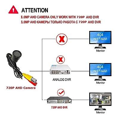 New 2018 Bullet Cameras Mini HD 720P AHD Camera Metal Bulllet 940nm IR Night Vision Security Cameras Smallest Camera for CCTV AHD DVR from EYBEAR®
