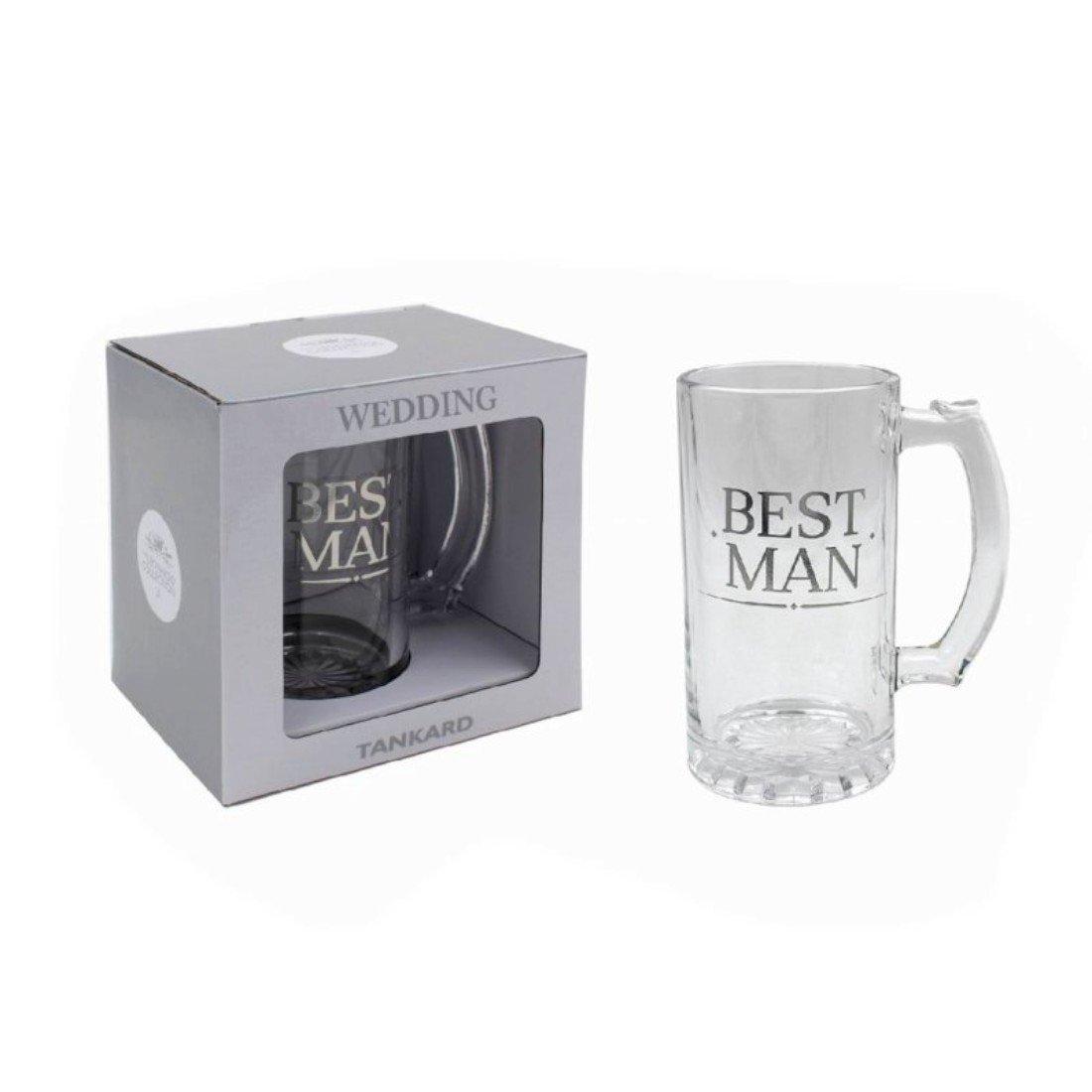 Best Man Tankard Gift Lesser and Pavey UKASNHKTN804